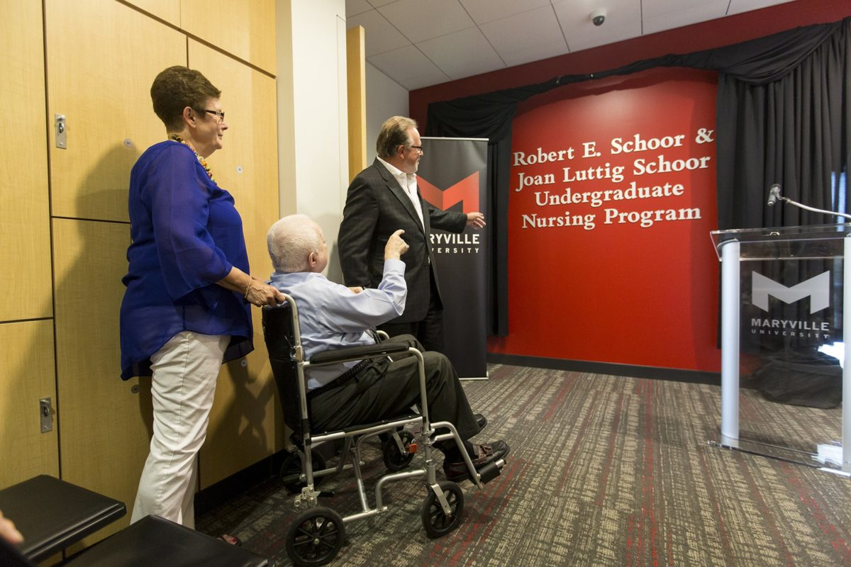 Undergraduate Nursing Program Honors Robert E. and Joan Luttig Schoor