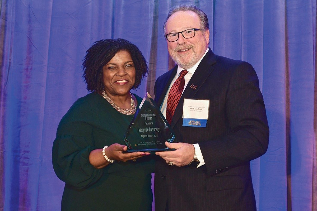 MARYVILLE HONORED WITH CORPORATE DIVERSITY AWARD