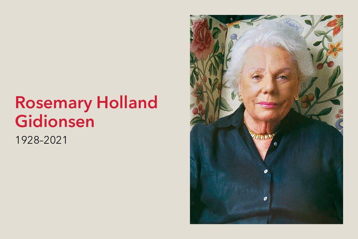 Remembering Rosemary Holland Gidionsen (1928–2021)